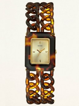 Часы GUESS NATURE-INSPIRED CHAIN LINKS WATCH - TORTOISE