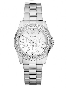 Часы GUESS WOMEN'S CHILLY SILVER-TONE WATCH
